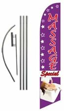 Massage Special Feather Banner Swooper Flag Set With 15 Foot Flag Pole Kit