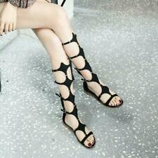 Womens 2020 Fashion Buckle Strap Zipper Bohemia Flat Gladiator Sandals Shoes da@