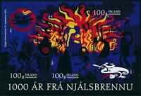 Iceland #MiBl55 MNH S/S CV€4.20 Saga of Burnt Njall Millenium Mythology [1246]