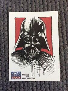 Topps Star Wars Galaxy 7 Darth Vader Retail Sketch Card 1/1 Erik Maell