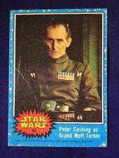 1977 Topps Star Wars #60 Peter Cushing as Grand Moff Tarkin CREASED