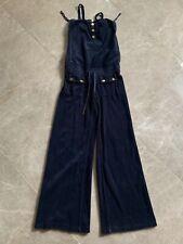 Authentic. Juicy Couture Women Navy wide leg Jumpsuit terry Romper Suit PXS