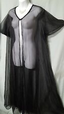 2e114780af Woman Within Black Robe B3G1 FREE Long Sexy Sheer Size 2X 66