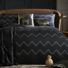 Black Duvet Covers Gold Laurence Llewellyn-Bowen Luxury Embroidered Bedding Sets
