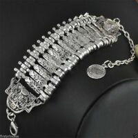 pulsera tribal aleacion Bohemian Gypsy Ethnic Coin Statement Bangle Bracelet
