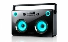 NEW ION Spectraboom Stereo Wireless Bluetooth Boombox with Lighted Speakers