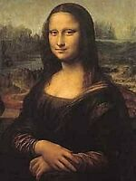 Mona Lisa Metallo Cartolina / Mini Firmare (Na)