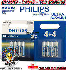 Philips 1.5V AA LR6 MN1500 Alkaline Batteries Powerlife Extra Value 8 Multipack