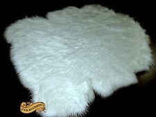 FUR ACCENTS Classic Border Sheep Area Rug Shaggy Faux Fur All Colors and Sizes