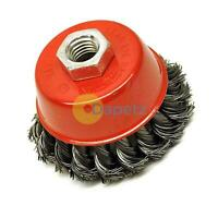 "Twist Knot Wire Wheel Cup Brush 125mm M14 for 4 1/2"" 115mm Angle Grinder"