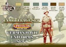 LifeColor German Segunda Guerra Mundial uniformes Set 1 (22ml X 6)