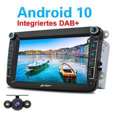 """Pumpkin 8"""" Autoradio mit DAB+ Android 10.0 GPS Navi Für VW Golf 5 Touran Kamera"""