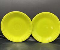 Set Of Two Fiesta Fiestaware Chartreuse Lime Green Salad Plate EEEA