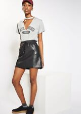Topshop Faux Leather Skirt Size 10