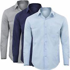 Camicia Uomo Cotone Basic Casual Manica Lunga Colori Vari M L XL XXL XXXL G68