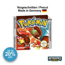 Gameboy Pokemon Rot Ersatz Aufkleber Geschnitten Label Glänzend Glossy Repro