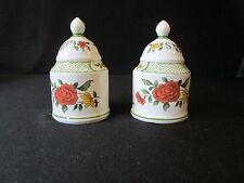 Villeroy & Boch Mettlach Summerday Salt and Pepper Shakers S&P's Germany Flowers
