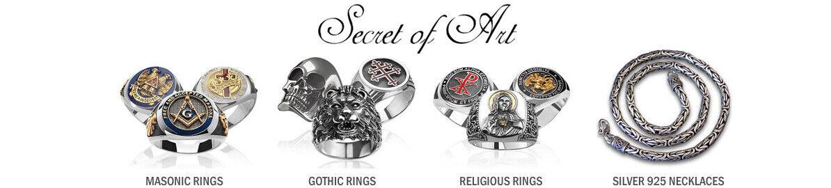 secret-of-art masonic templar rings
