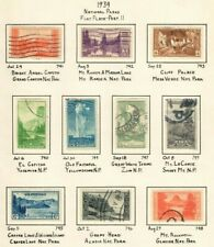 US Stamps Collection - Scott #740-749 Used - National Parks Issue