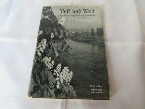 Volk und Welt April 1939 Prof. OPPERMANN - Die Großzeitschrift für eine Mark