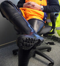 Ultra Rare New Dutch Military Bekina Black Rubber Hip Wader Boots US 12 EU 46