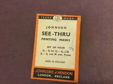 Vintage Johnsons of Henson Printing Masks Envelope