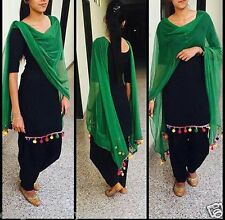 Ready made Designer Indian salwar kameez size40 Punjabi raw silk Bollywood suit