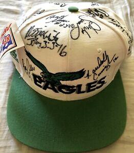 1992 Philadelphia Eagles team signed cap hat Reggie White Randall Cunningham JSA