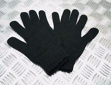 Hecho en el RU Calidad Acrílico Negro gloveswiith PUNTO PUÑOS - NUEVO