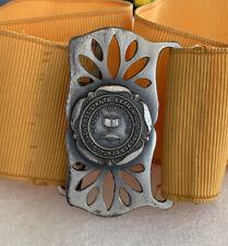 "More details for vintage buckle belt dentist surgery assistant 32"" 1964-1967 yellow mustard belt"