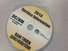 2010 Dodge Ram Truck Cab Chassis 3500 4500 5500 Service Shop Repair Manual Cd