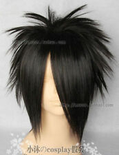 NARUTO Uchiha Sasuke Fashion Short Black Cosplay Wig wigs +hairnet:Q