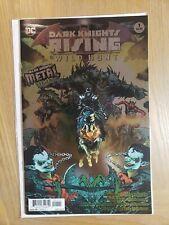 "Dark Knights Rising # 1 2018 Foil Stamped ""Metal Tie-In"" 1st Print The Wild Hunt"