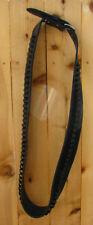 Western BANDOLIER BANDOLERO Strap Belt.357, 38 Caliber Ammo. Black Leather