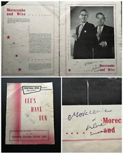 More details for original central pier show programme (1959) signed by morecambe & wise & others