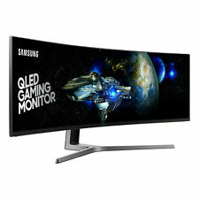 "Samsung LC49HG90DMU 49"" Ultra Wide Curved Gaming QLED Monitor 144hz  Black"