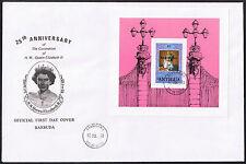 Barbuda FDC 25th Anniversary of the Coronation 1978 Mini-Sheet  MS420 $5