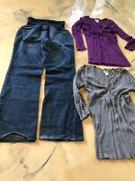 Motherhood Size Medium Shirts Indigo Blue Jeans