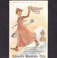 1800s Feminist Nellie Bly Flags Fogg Good-bye 1800's Around World Victorian Card