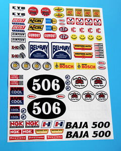 RC Vintage Retro 80's classic Decals stickers logos Sand Scorcher SRB