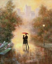 T.C.Chiu: Walk in the Park Fertig-Bild 40x50 Wandbild Romantik New York