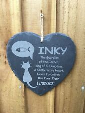 Pet Memorial Plaque, Laser Etched on Slate, Personalised to your Requirements.