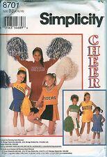 Simplicity 8701 Girls Cheerleader outfits uniform Child Costume pattern Uncut Ff