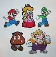 NINTENDO Super Mario Brothers Mario & Friends Embroidered Patch Set Of 5 Patches