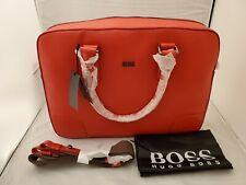 Hugo Boss Mens Leather Briefcase / Bag / Workbag - Westin # 50248833 Brand New
