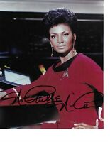 "Nichelle Nichols  Star Trek ""Uhura"" Hand Signed Color Photograph in Person Rare"