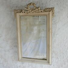 Antique C19th French painted mirror.