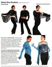 Stitch Diva Studios Knit & Crochet Pattern - Cardi Wraps (1 to Knit, 1 Crochet)