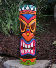 "Colorful Tiki Wood Wall Mask Tropical Bar 20"" Man Cave"