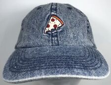 Pizza Slice Pie NYC New York Embroidered Dad Hat Denim Baseball Cap